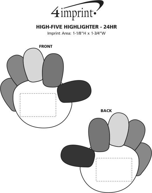 Imprint Area of High-Five Highlighter - 24 hr