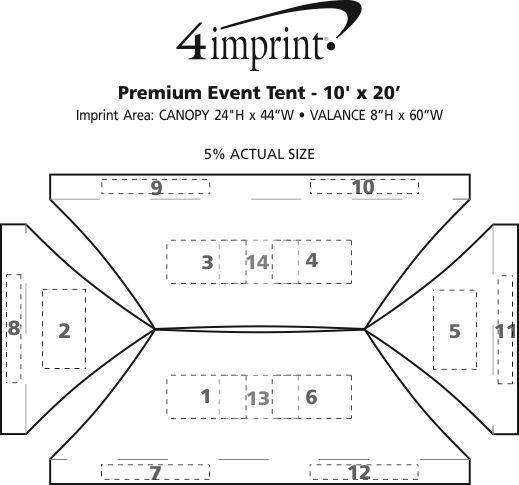 Imprint Area of Premium 10' x 20' Event Tent