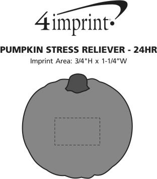 Imprint Area of Pumpkin Stress Reliever - 24 hr