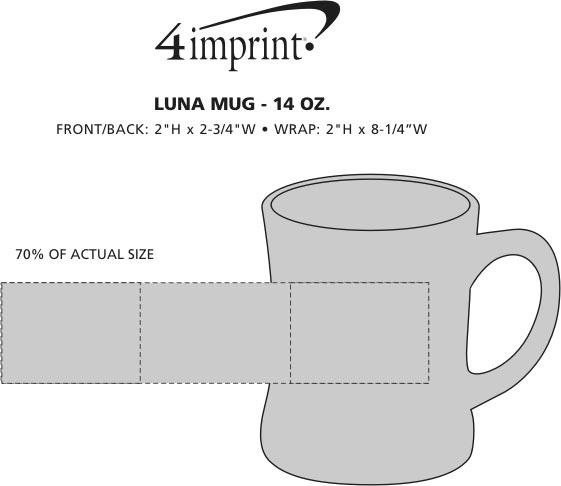 Imprint Area of Luna Coffee Mug - 14 oz.