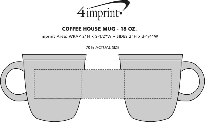 Imprint Area of Custom Coffee House Mug - 18 oz.