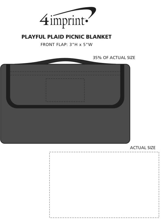 Imprint Area of Playful Plaid Picnic Blanket