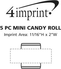Imprint Area of 6 pc Mini Mint Roll