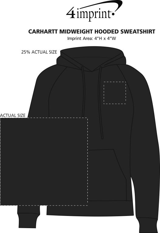 Imprint Area of Carhartt Midweight Hooded Sweatshirt - Screen
