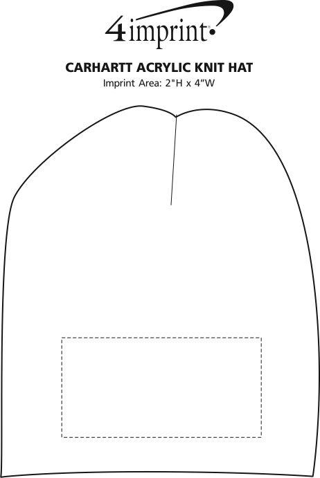 Imprint Area of Carhartt Acrylic Knit Hat