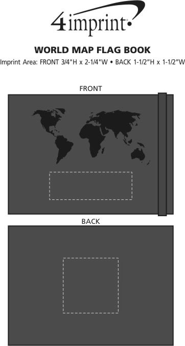 Imprint Area of World Map Flag Book