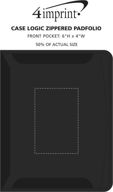 Imprint Area of Case Logic Conversion Series Zippered Padfolio