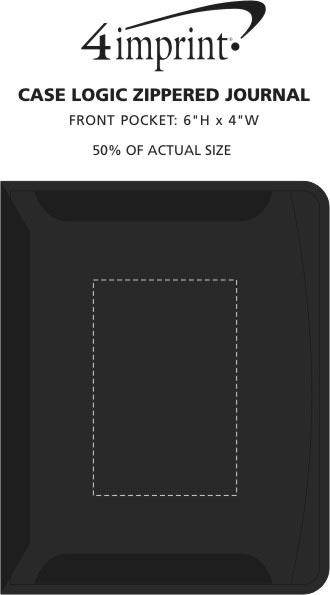 Imprint Area of Case Logic Conversion Series Zippered Journal