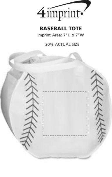 Imprint Area of Baseball Tote