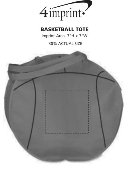 Imprint Area of Basketball Tote