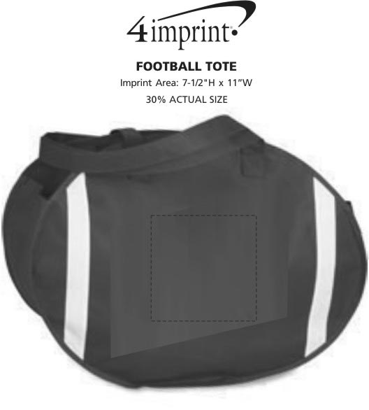 Imprint Area of Football Tote