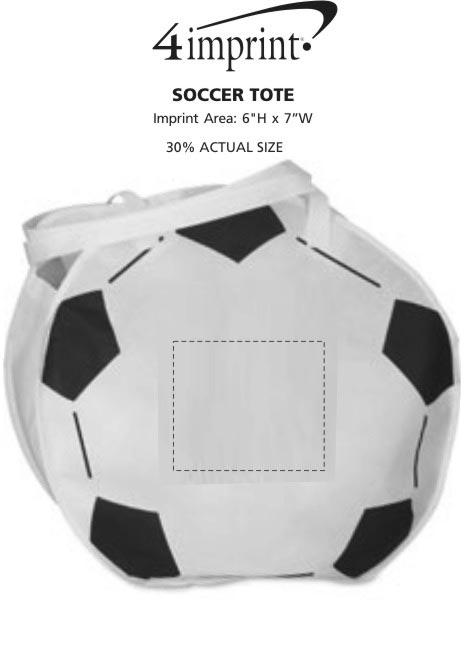 Imprint Area of Soccer Tote