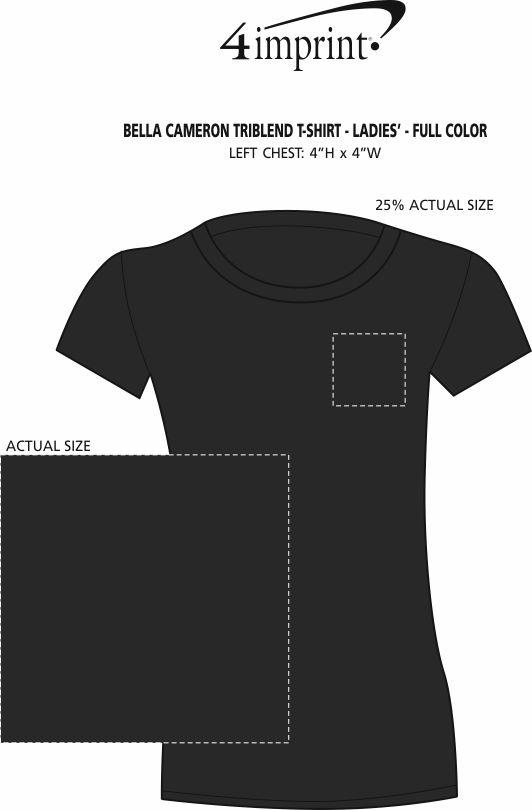 Imprint Area of Bella+Canvas Tri-Blend T-Shirt - Ladies' - Full Color