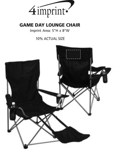 Imprint Area of Game Day Lounge Chair