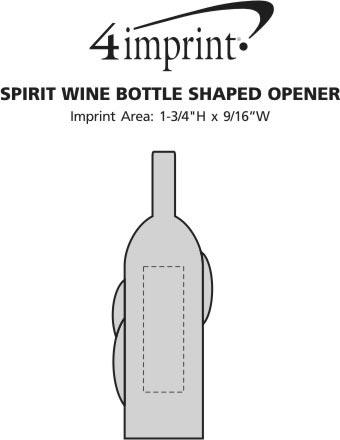 Imprint Area of Spirit Wine Bottle Shaped Opener
