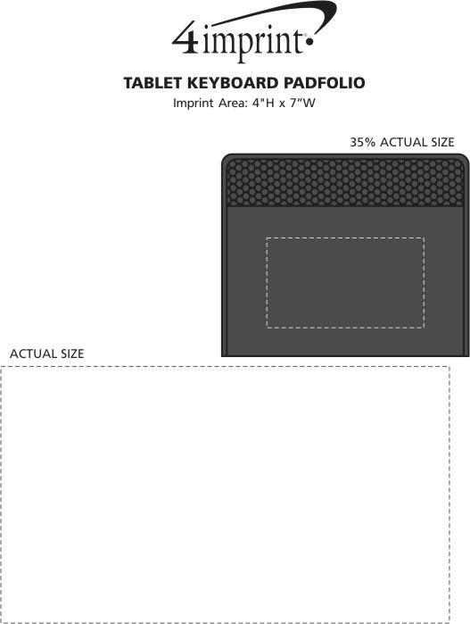 Imprint Area of Tablet Keyboard Padfolio