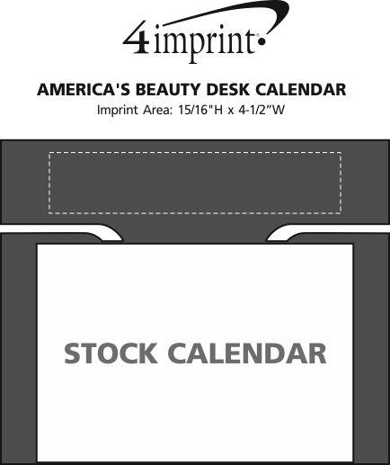 Imprint Area of America's Beauty Desk Calendar
