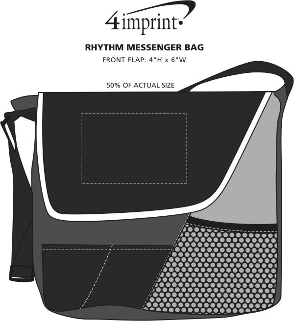 Imprint Area of Rhythm Messenger Bag
