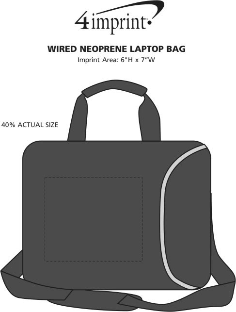 Imprint Area of Wired Neoprene Laptop Bag