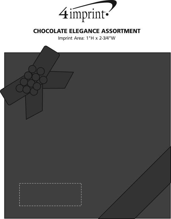 Imprint Area of Chocolate Elegance Assortment