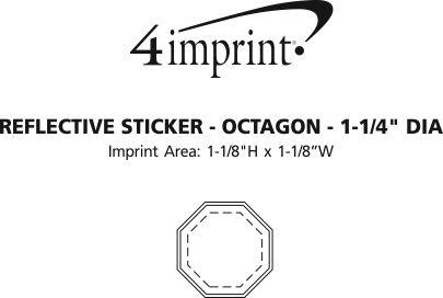 "Imprint Area of Reflective Sticker - Octagon - 1-1/4"" Dia"