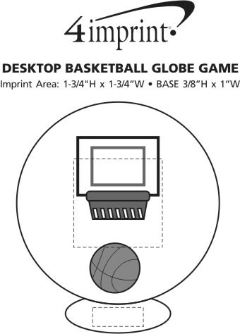 Imprint Area of Desktop Basketball Globe Game