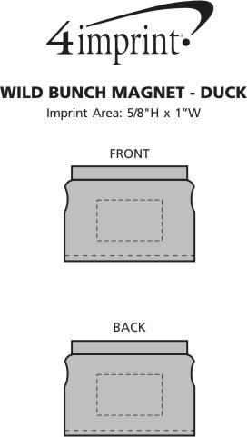 Imprint Area of Wild Bunch Magnet - Duck