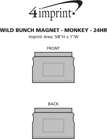 Imprint Area of Wild Bunch Magnet - Monkey - 24 hr