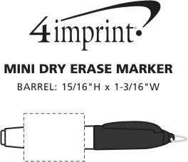Imprint Area of Mini Dry Erase Marker