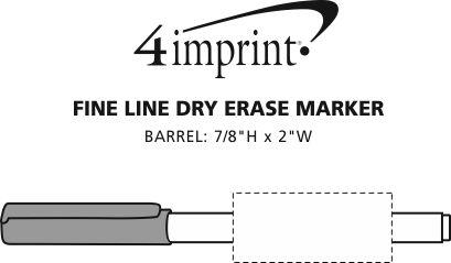 Imprint Area of Fine Line Dry Erase Marker