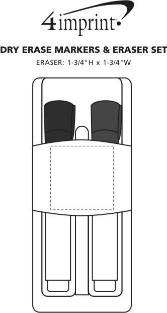 Imprint Area of Dry Erase Markers & Eraser Set