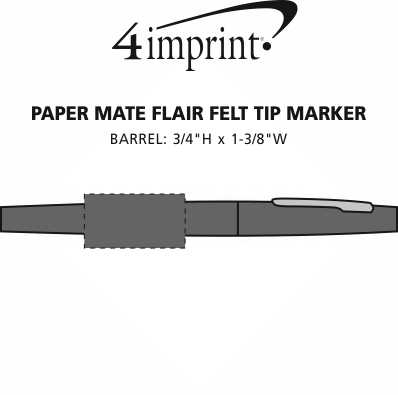 Imprint Area of Paper Mate Flair Felt Tip Marker