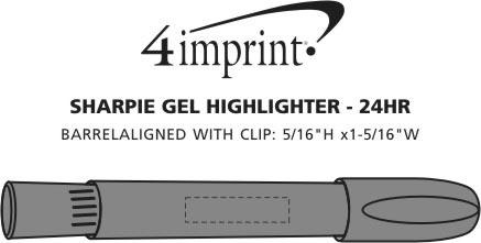 Imprint Area of Sharpie Gel Highlighter - 24 hr