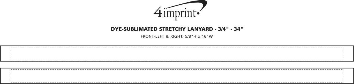 "Imprint Area of Dye-Sublimated Stretchy Lanyard - 3/4"" - 34"""