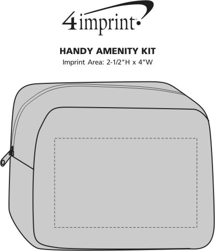 Imprint Area of Handy Amenity Pouch
