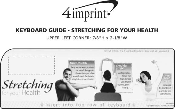 Imprint Area of Keyboard Guide - Stretching For Your Health