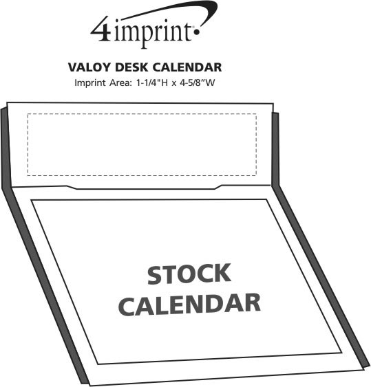 Imprint Area of Valoy Desk Calendar