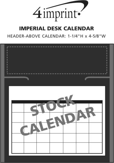 Imprint Area of Imperial Desk Calendar