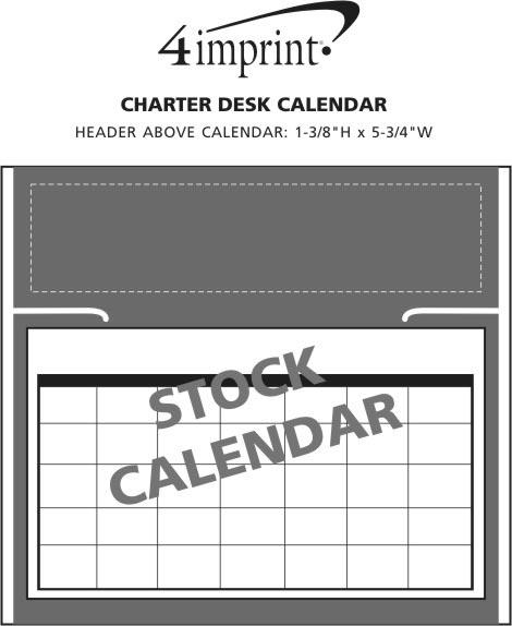 Imprint Area of Charter Desk Calendar