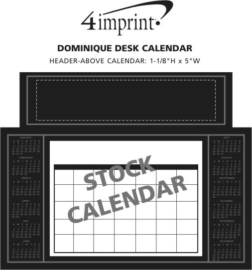 Imprint Area of Dominique Desk Calendar