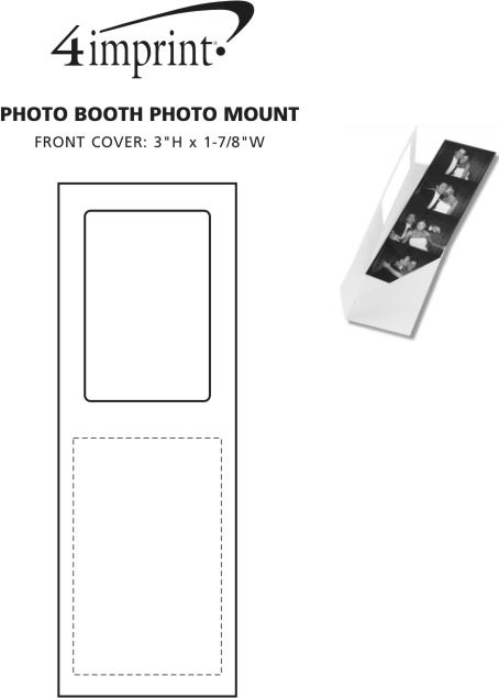 Imprint Area of Photo Booth Photo Mount