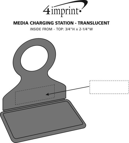 Imprint Area of Media Charging Station - Translucent