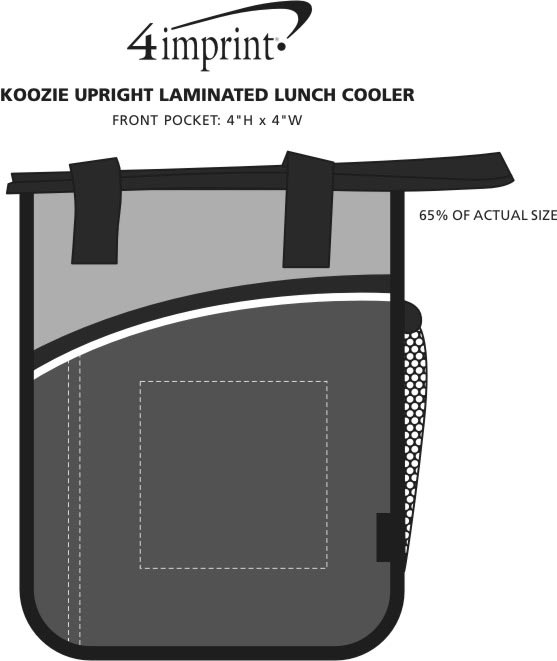 Imprint Area of Koozie® Upright Laminated Lunch Cooler