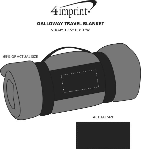 Imprint Area of Galloway Travel Blanket