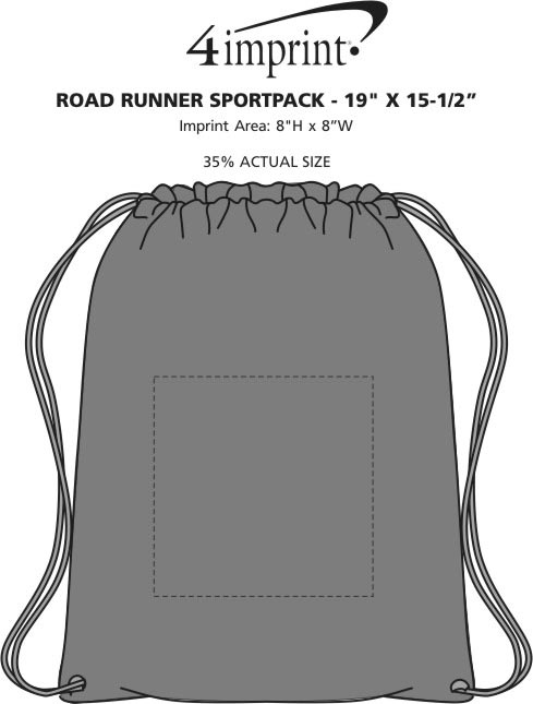"Imprint Area of Road Runner Sportpack - 19"" x 15-1/2"""