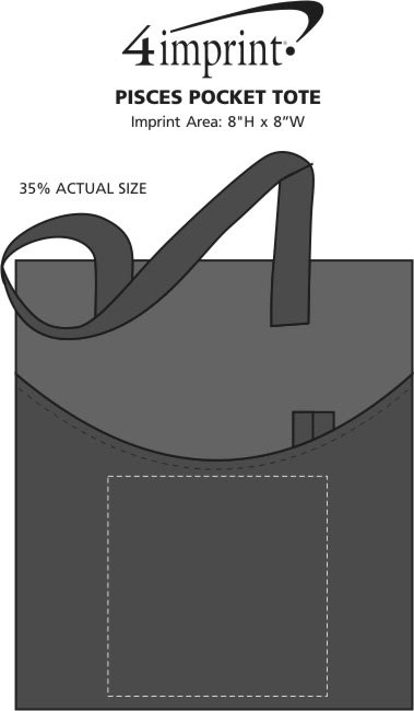 Imprint Area of Pisces Pocket Tote