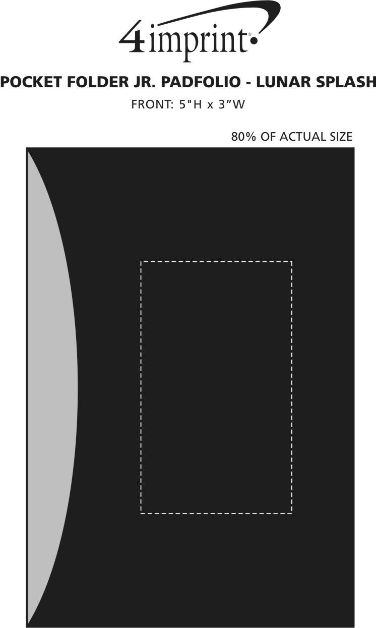 Imprint Area of Pocket Folder Jr. Padfolio - Lunar Splash