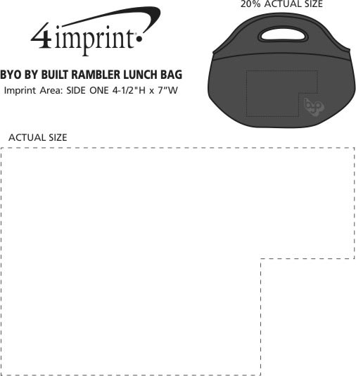 Imprint Area of BYO by BUILT Rambler Lunch Bag