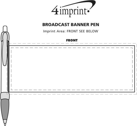 Imprint Area of Broadcast Banner Pen
