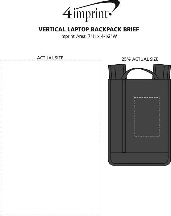 Imprint Area of Vertical Laptop Backpack Brief
